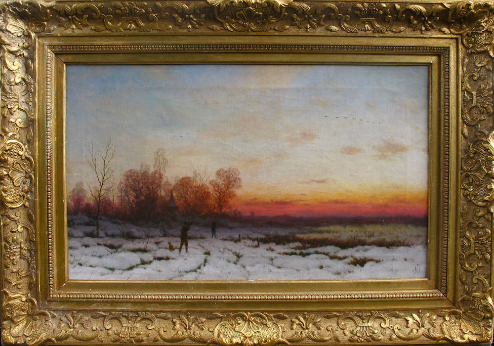 Frederick William Meyer (Great Britain, 1869 - 1922) Original European 19th Century Oil Painting Dusseldorf