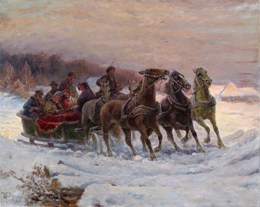 Густав Пруха Катание на санях