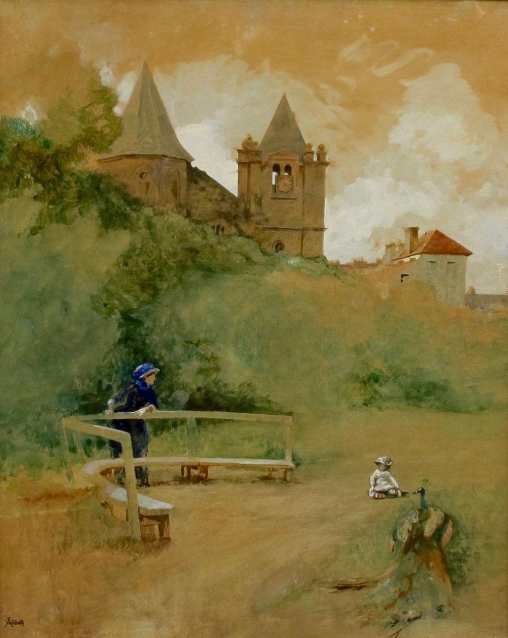 Фердинанд Гейльбют (1826 Гамбург- 1889 Париж) - В парке