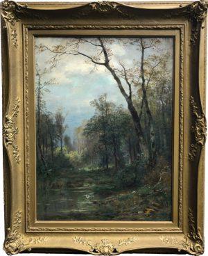 Heinrich Böhmer - Waldlandschaft - Landscape Painting Forest