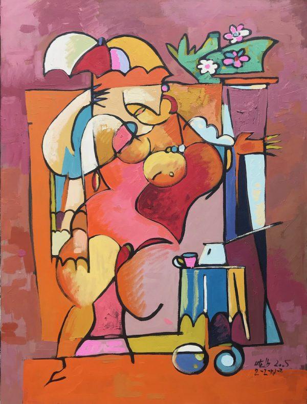 """Modern Artist """"Davidian"""". Abstract Painting Series """"Women"""" (4). 80 x 60 cm. Contemporary & Modern Art Collection by Davidjan Art."""