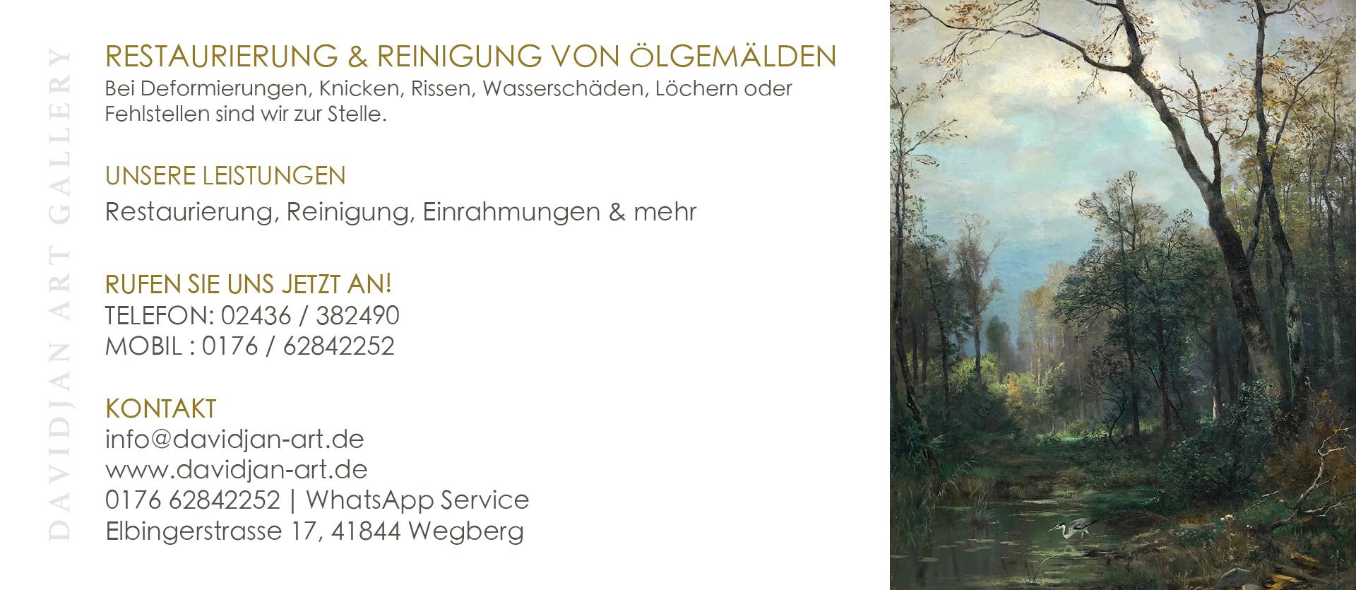 Restaurierung von Ölgemälden in Heinsberg.