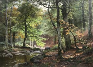 Heinrich Böhmer Gemälde Waldlandschaft Davidjan Art Gallery Ankauf Verkauf 19.Jahrhundert