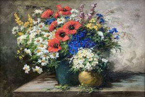 Wilhelm Schütze - Натюрморт с цветами -