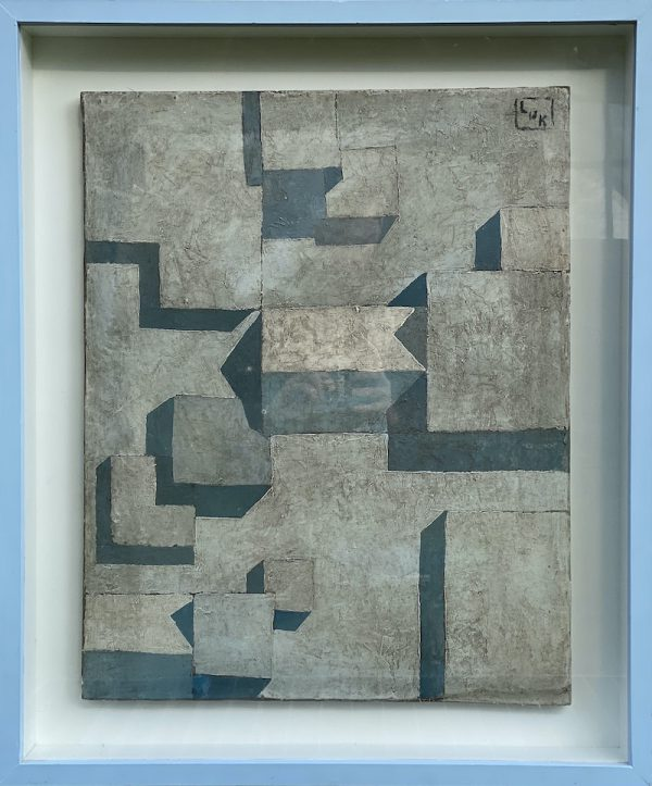 Cubism Art Painting with Frame 1930