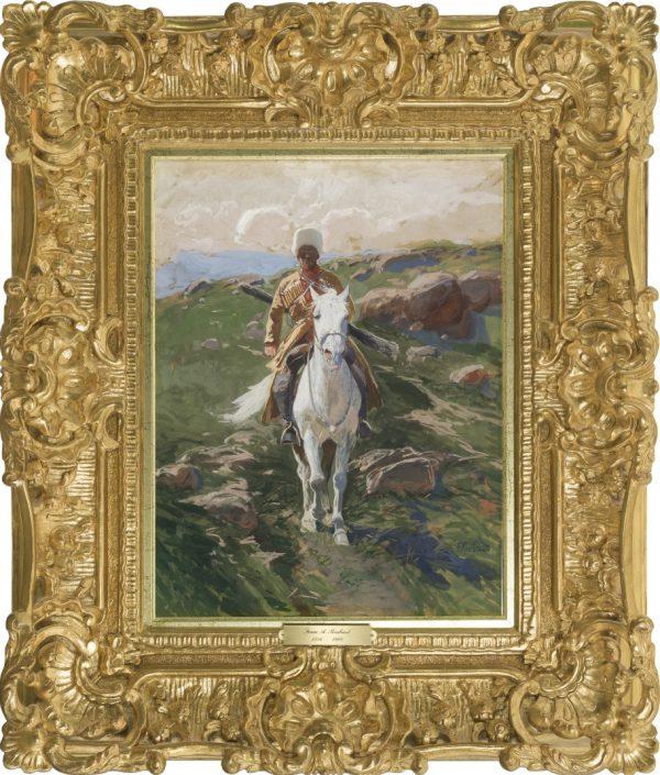 Franz Roubaud - Франц Алексеевич Рубо - Franz Roubaud 1856 Odessa, Ukraine - 1928 München - Cossac Horsemen
