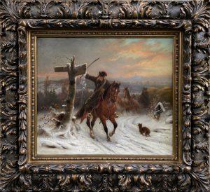 Eduard Handwerck - Napoleon's Escape from Russia - Napoleon's Flucht aus Russland - European Painting - Kassel